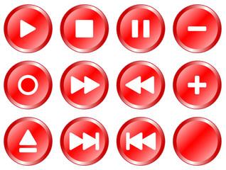 Multimediatasten - Red Icons