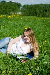 young girl outdoor