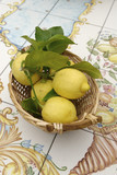 lemons basket in Sorrento's coast