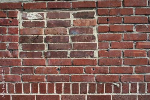 mattoni rossi di un muro