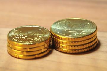 Euro Münzen Stapel