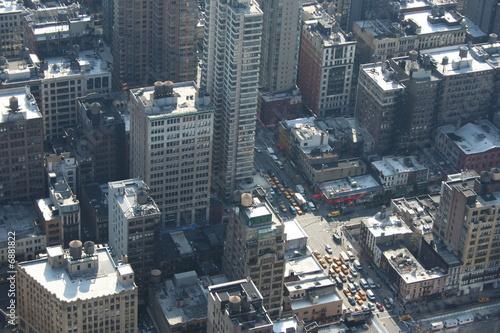 Il traffico di new york visto dall 39 alto dei grattacieli di for New york dall alto