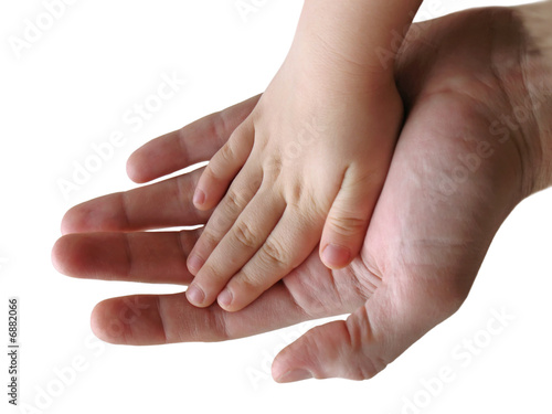 poster of child and parent hands together