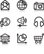 Black contour web icons, set 5