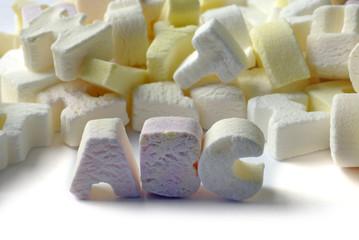 alphabet candy background