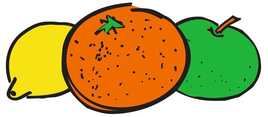 Naranja, Manzana y Limon