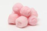 Pink hygienic cotton balls poster