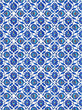 Turkish Tiles inside the Mosque, Istanbul, Turkey
