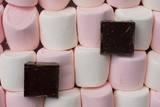 Marshmallows With Slab Chocolate poster