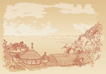Kafsokalyvia skete in mount Athos