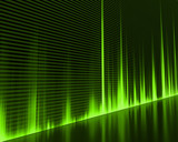Graphic of a digital sound. Abstract Background. - 6884805