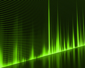 Graphic of a digital sound. Abstract Background.