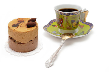sweet dessert and a cup of coffee
