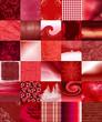 mosaïque rouge