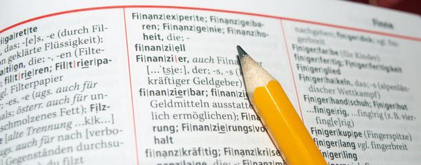 Blick ins Lexikon - Finanziell