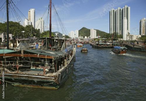 Leinwandbild Motiv Aberdeen in Hong Kong
