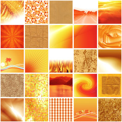 mosaïque orange