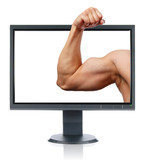 Biceps and monitor poster