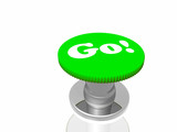 Green button with inscription