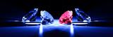 Diamonds close-up metaphor poster