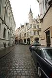 Old Riga street, Latvia. poster