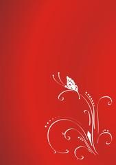 rojo intenso con flor