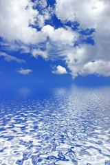 nuages au dessus de l'océan