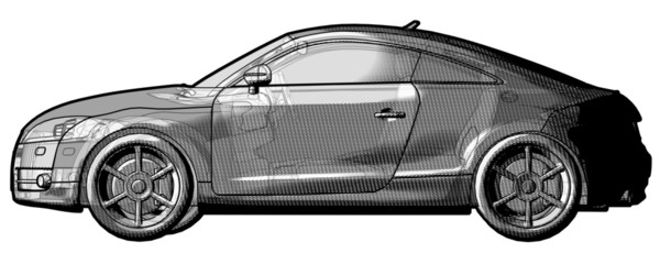 Car schematic illustration