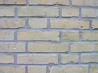 Wall of light yellow bricks