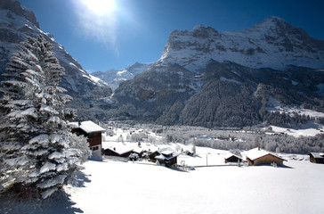 Small village in Swizz Alps