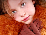 Pretty Girl in Furry Coat and Gloves poster
