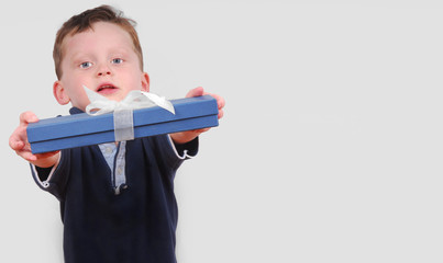 Cute Boy Offering Present