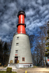 Lighthouse. Light tower. HDR