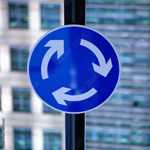 Roundabout Road Sign. roundabout road sign