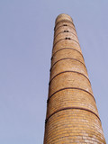smokestack or chimney for an old factory poster