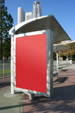 Place your ad on bus stop board (With clipping paths) poster