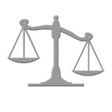 balance de la justice en métal poster