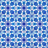Floral pattern on old Turkish tiles, Istanbul, Turkey poster