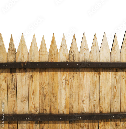 fence on white
