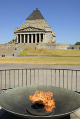 Eternal flame at the Shrine of Remembrance in Melbourne