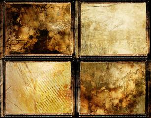 grunge set of framed backgrounds