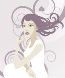 Beautiful ethereal tranquil woman poster