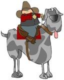 Great Dane Rider poster