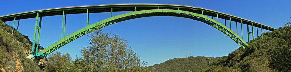 Cold Spring Arch Bridge in California, from Below