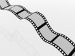 Film strip on a white background