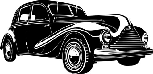 Vector illustration retro car