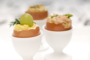several egg appetizers