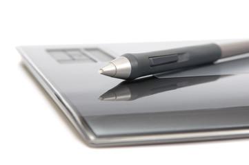 closeup of digitizer with pen