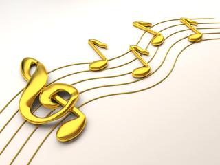 Notes a treble clef