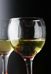 Couple glasses of white wine
